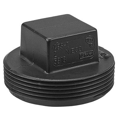 NIBCO 5818 Series ABS DWV Pipe Fitting, Plug, NPT Male