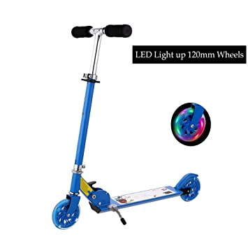 FORIN - Patinete Scooter, Plegable Scooter con 2 Big LED ...