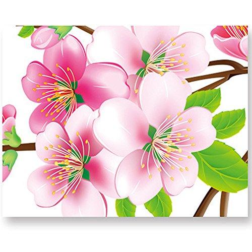 Hli-SHJHsmu Living Room Wall Peach Wall Bedroom TV Setting Flowers Stickers Stickers Sofa ()