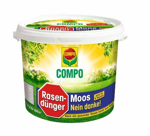 Compo 1390788004 Rasendünger Moos - Nein danke, 7,5 kg für 300 m²