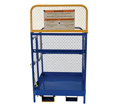 Vestil WP-3636-DD Steel Work Platform, 1000 lb Capacity, 36'' x 36'' with Double Doors, Powder Coat Blue, not for use in California by Vestil (Image #3)