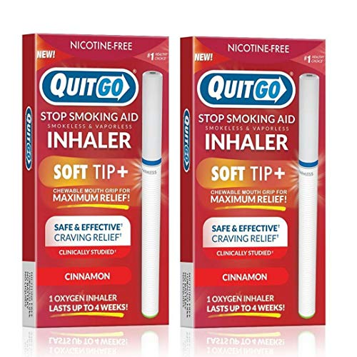 QuitGo Oral Fixation Support, Clinically Studied, Oxygen Inhaler to Stop Smoking, Includes Free How to Quit Smoking Step…