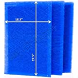 MicroPower Guard Replacement Filter Pads 20x30 Refills (3 Pack) BLUE