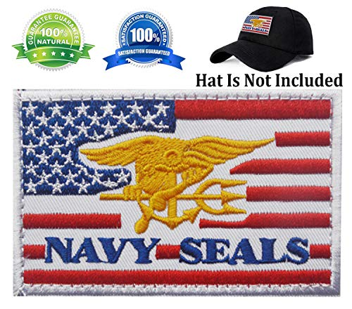 Patch USA American Flag Navy Seals Patch Military Tactical Morale Badge Patch Embroidered Patch 3.15