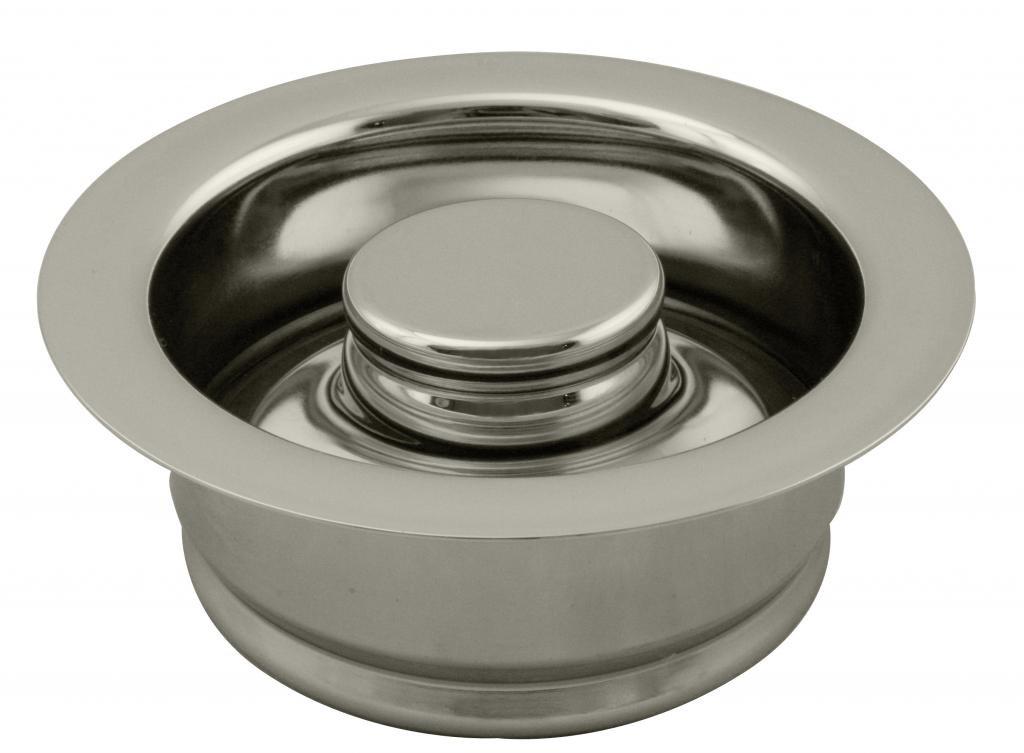 Westbrass InSinkErator Style Disposal Flange & Stopper, Polished Nickel, D2089-05