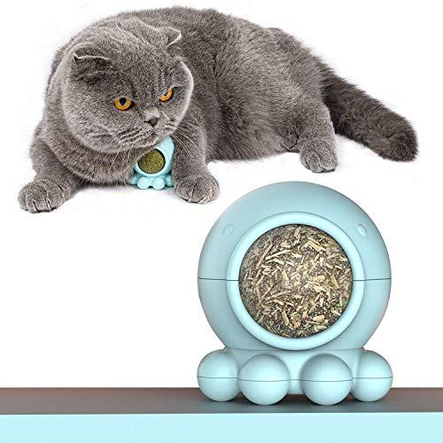 VIKEDI Katzenminze Ball Spielzeug für Katze, Katze Behandelt Spielzeug mit Octopus-Form, Rotierende Interaktive…