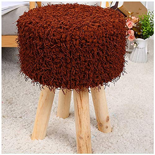 (YONGYONG-hammock Four-Foot Stool Hair Change Shoe Stool Low Stool Home Round Stool Plush Stool Simple Solid Wood 303045CM (Color : 3, Size : 303045CM))