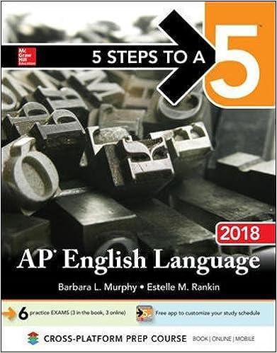 Amazon Com 5 Steps To A 5 Ap English Language 2018 9781259862311