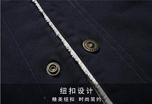Chaud Quality Blouson Outwear Intérieur Coton Militaire Homme Bleu Moxishop Mens Manteaux Veste vent Blanc Nouvelle Haute Cowboy Revers Casual Hiver Jackets Coupe pqSYvw0