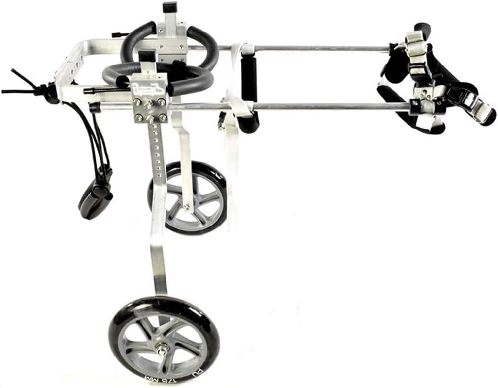 AMITD - Silla de ruedas para perro, 2 ruedas, de aleación de aluminio, para rehabilitación de mascotas, adecuada para perros