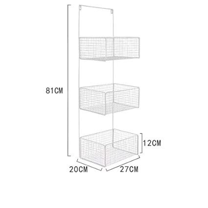 Amazon.com: FDSADFA Estante de baño sin taladro, estante de ...