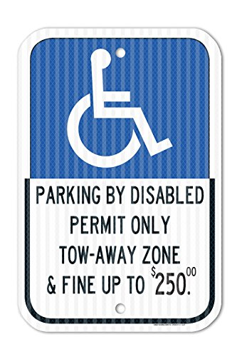 (State of Florida Parking by Disabled Permit Only and Fined Sign - 12