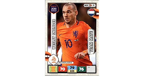 Ned11-Wesley Sneijder-Team Mates-PANINI ADRENALYN ROAD TO WORLD CUP 2018