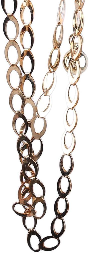 Kshcf Waist Chain Metal Belt Thin Chain Decoration Belt Body Waist Belt Ladies Summer Dress Waist Chain