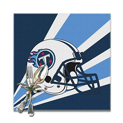 Titan 6' Coffee - Marrytiny Design Colourful Placemats Heat Resistant Table Mats Tennessee Titans Football Team 100% Polyester Dining Table Set of 6 Kitchen Coffee Mat 12 x 12 Inch