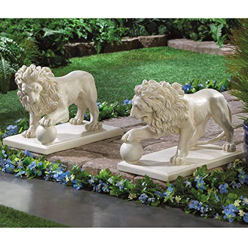 Cross Scented Candles Two Sets Lion Guardians for Regal Entrance Decorative Garden Statue