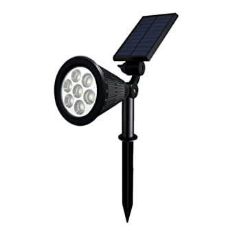 LED Solar Strahler Lichter Gartenleuchten Landscape Spotlight Solarlampe Außen