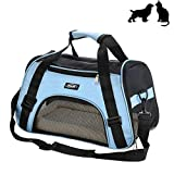 Soft-Sided Pet Carrier, Low Profile Travel Tote with Cozy and Soft Dog Bed, Portable, Collapsible, Airline Approved, Travel Friendly, Perfect for Small Dogs, Cats, Puppies, Kittens, Pet Review