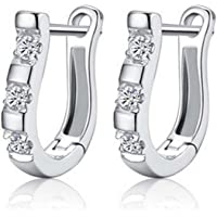 DDU(TM) Charming Women's Sterling Silver Ear Hoop Earrings Ear Stud
