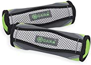 Gaiam Hand Weights for Women & Men Soft Dumbbell Walking Hand Weight Sets with Hand Strap - Walking, Runni