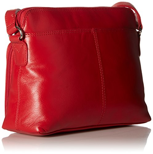 Handbag with 6333 Red ili Side Organizer York Shoulder Leather New w1UUZqR