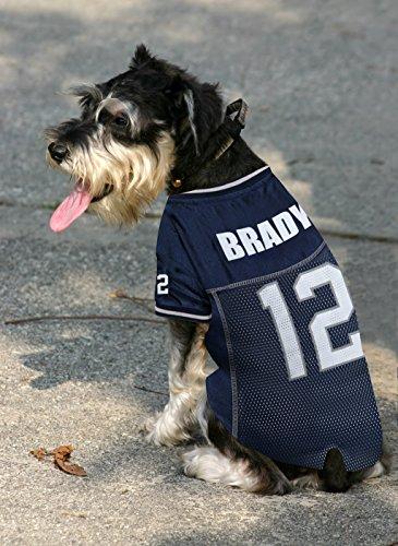 Tom Brady NFLPA #12 New England Patriots Pets First Dog Bandana Blue Sizes S-L
