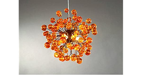 Orange Lampshade - Chandelier - Pendant Lampshade - Ceiling Light ...:Orange Lampshade - Chandelier - Pendant Lampshade - Ceiling Light Fixtures  - Hanging Decorations - Lamp for Bedroom - Entertainment room or Chidrens  room ...,Lighting