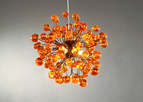 Orange lampshade chandelier pendant lampshade ceiling light orange lampshade chandelier pendant lampshade ceiling light fixtures hanging decorations lamp mozeypictures Images