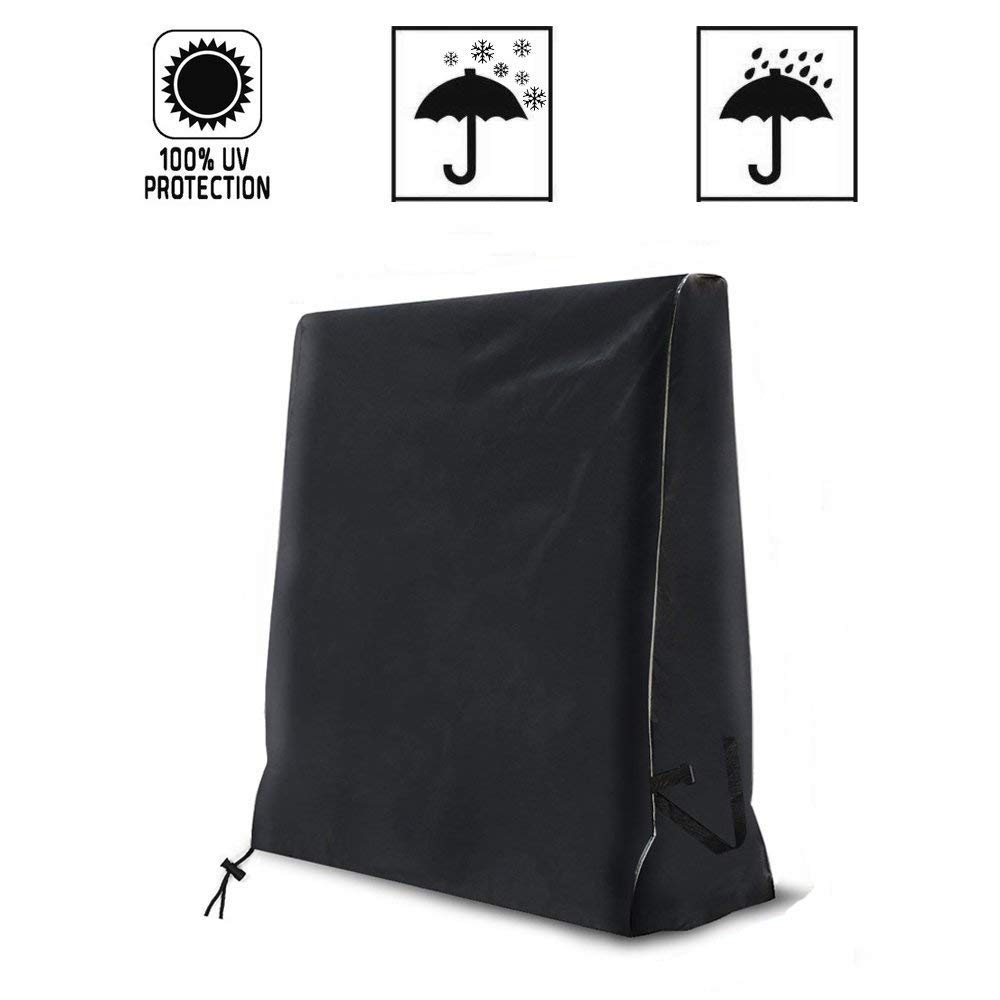 Queta Table Tennis Table Cover Waterproof Case For Ping Pong Table Tennis Table (165x 70x 185cm)