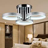 LightInTheBox Chandelier LED Modern Silver 3 Lights, Modern Home Ceiling Light Fixture Flush Mount, Pendant Light Chandeliers Lighting
