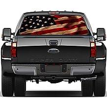 American Flag Vintage Rear Window Graphic Decal Sticker Car Truck SUV Van US 214, Large