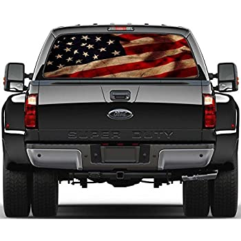 American flag vintage rear window graphic decal sticker car truck suv van us 214 large