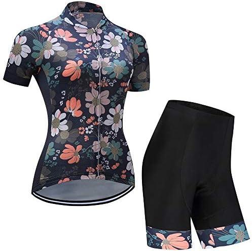 夏の女性の半袖自転車スーツの吸湿発散性のあるジャケットショーツサイクリングスーツ