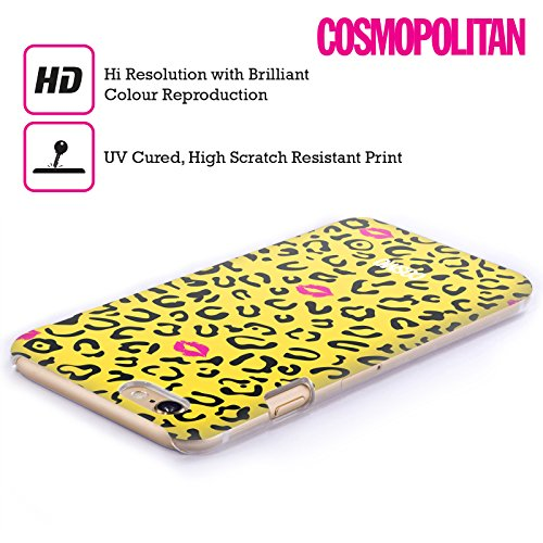 Official Cosmopolitan Black And Yellow Sassy Leopard Hard Back Case for Apple iPhone 3G / 3GS