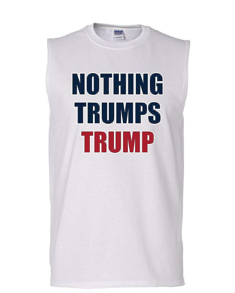 Tee Hunt Nothing Trumps Trump Muscle Shirt Funny Keep America Great MAGA 45 Sleeveless