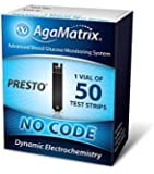 AgaMatrix WaveSense Presto Test Strips, 50 Count Box