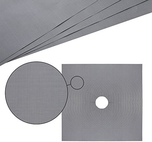 antiadherentes reutilizables hojas protectoras para estufa Lanlan Color Pack de 4/fundas de protecci/ón para fogones de Gas lavables en lavavajillas