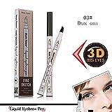 #3: Eyebrow Pen,2018 Ankooy Eyebrow Long Lasting Tint Dye Cream,Waterproof,Smudge-proof (03#)