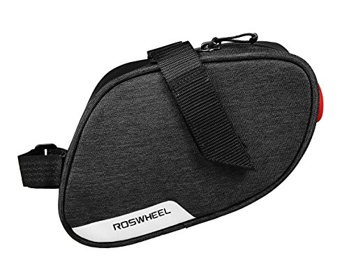 Roswheel Essentials Series 131463 Bike Bicycle Under Seat Saddle Bag with Tail Light - Excursion Cargo Messenger Bag