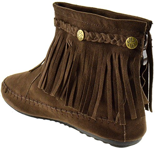 Fringe Ankle Lucita TG Coffee Moccasin 01 Boots fw17nq6E