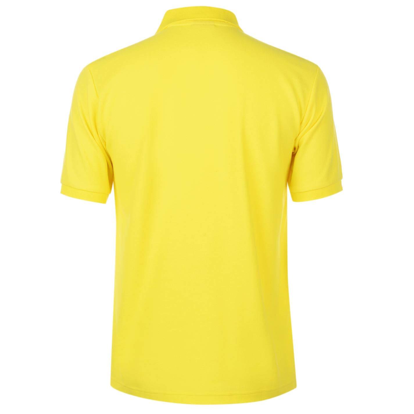 Slazenger Hombre Plain Camiseta Polo Amarillo S: Amazon.es: Ropa y ...