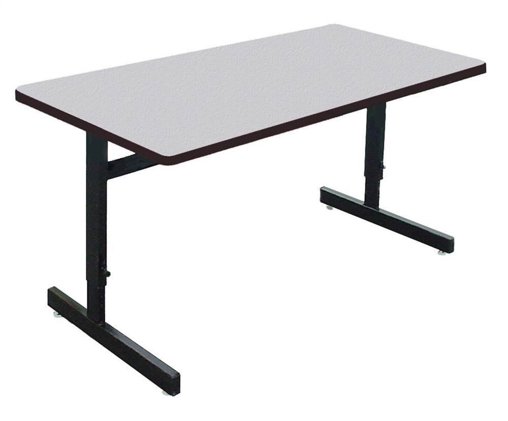school rectangle table. Correll WS3060M - EconoLine School, Office, Computer Or Training Table, 30\ School Rectangle Table