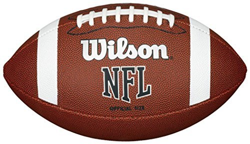 Wilson Nfl Approved Official Size Bin Xb Entry Level Pvc American Football Brown Only Sportsgear