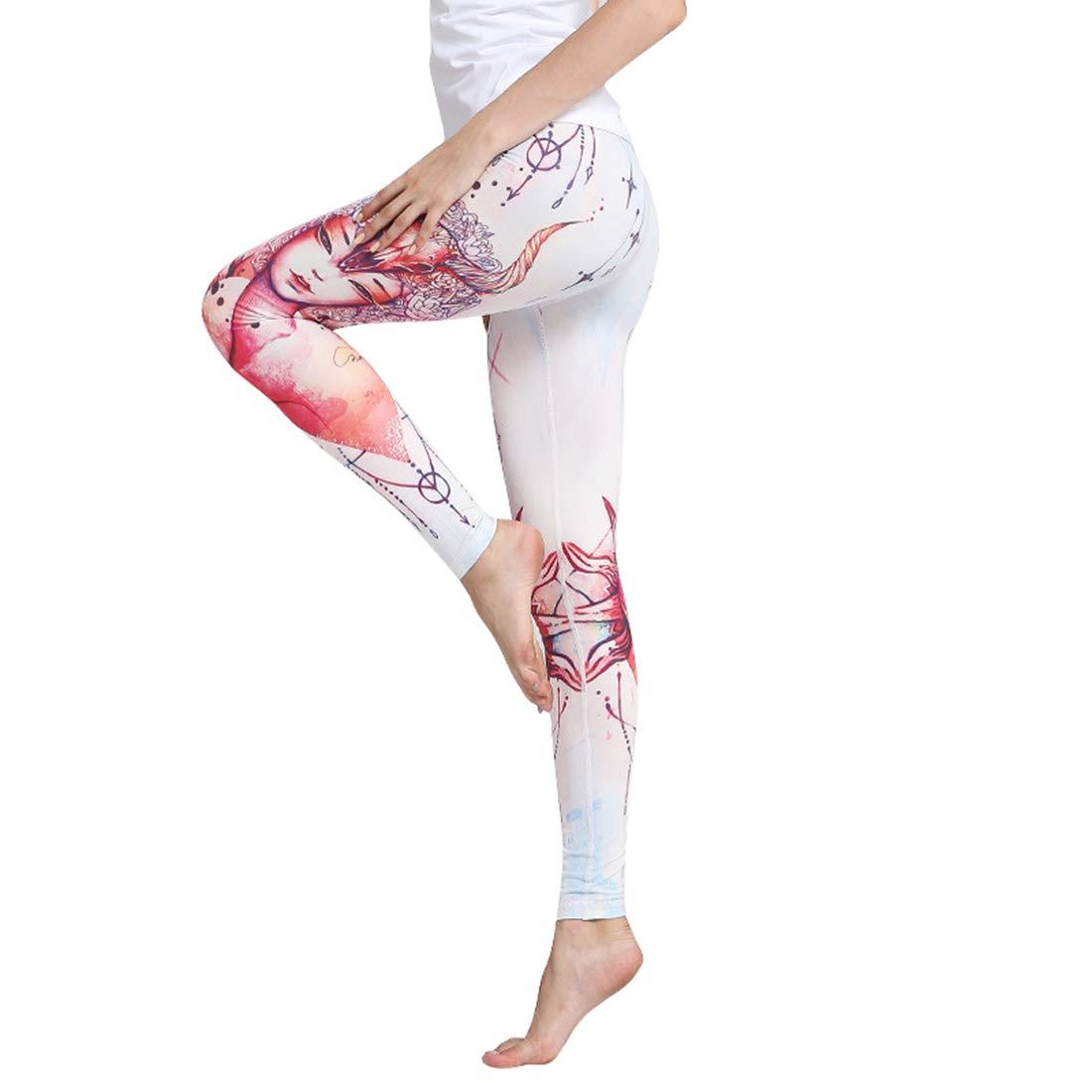 A003 Huayue Yoga Pants Women's Printed Elastic Slimming Fitness Pixilated Pants