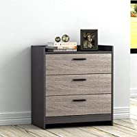 Homestar Central Park Chest with 3 Drawers in Java Brown with Sonoma Finish