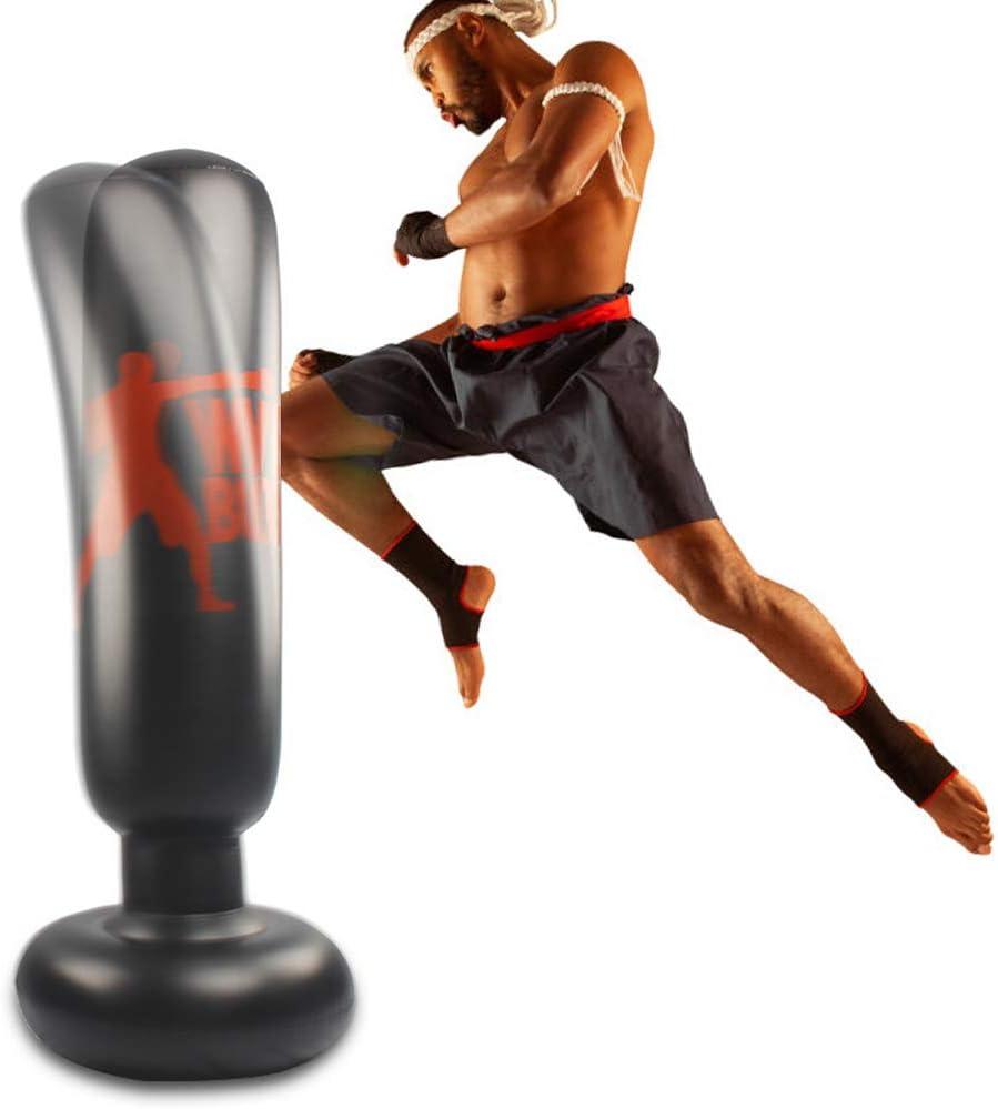 Details about  /160cm Fitness Hit Sandbag Adult Children Inflatable Column Tumbler Punching Bag