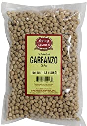 Spicy World Garbanzo (chick Peas), 64-Ounce Pouches (Pack of 4)