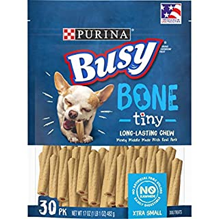 Purina Busy Made in USA Facilities Toy Breed Dog Bones, Tiny - 30 ct. Pouch