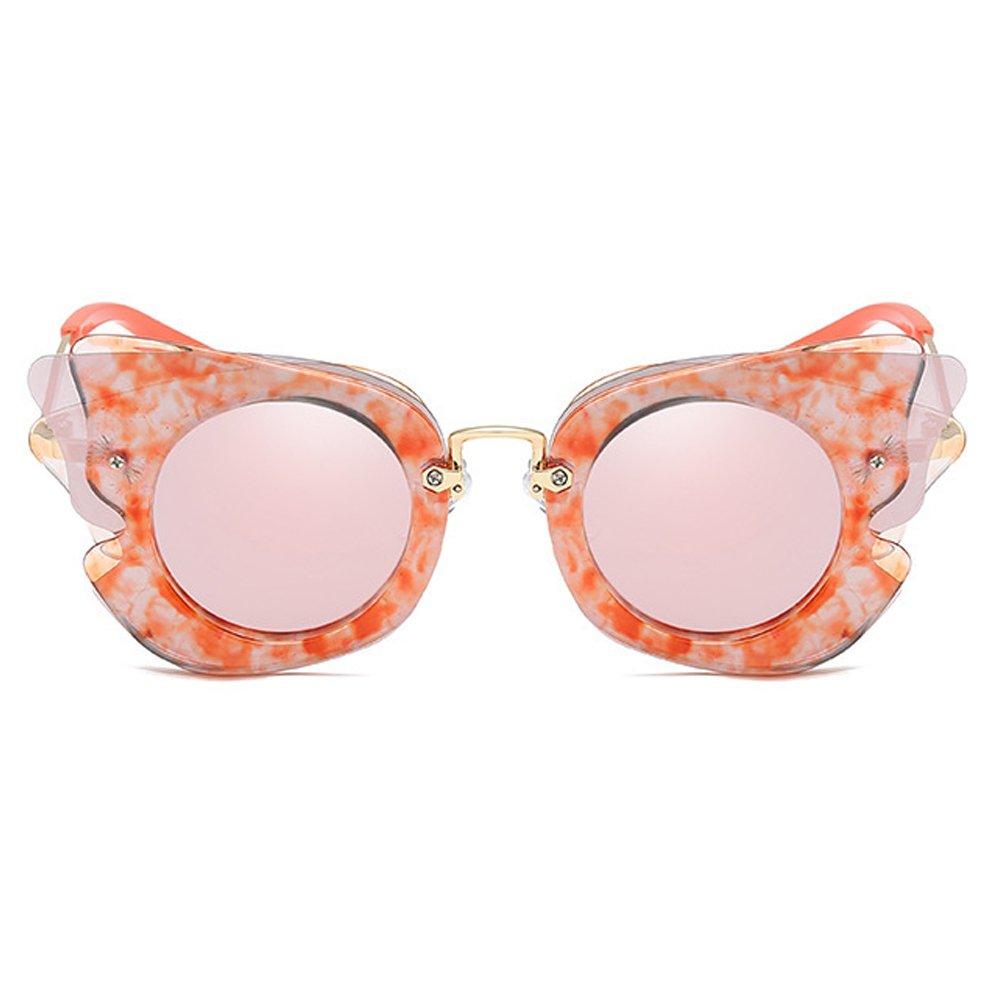 Fantia Girls Sunglasses Children Princess Polarized Eyeglass Wings Tourism (C3)