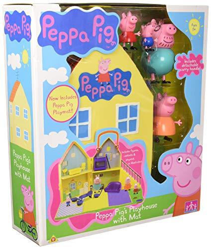Peppa Pig Baby Toy Peppa Casa con 4 Figuras, Playmat